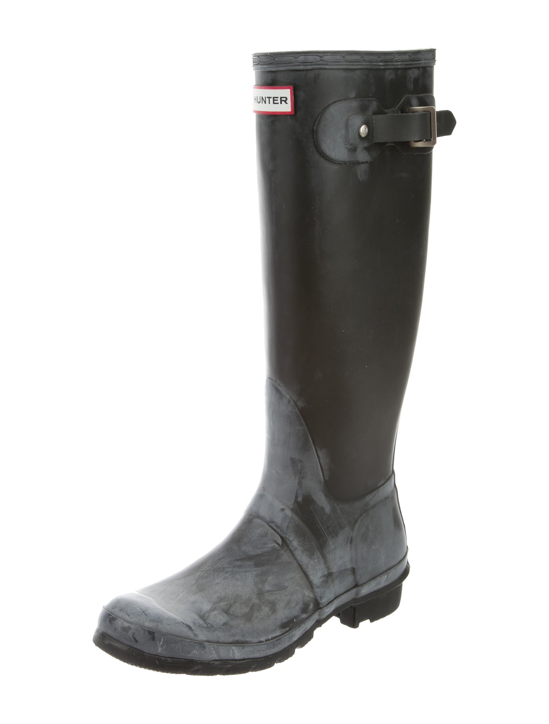 Hunter Rubber Rain Boots - Shoes - WH821120 | The RealReal