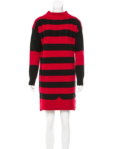 Hunter Striped Merino Wool Dress w/ Tags None