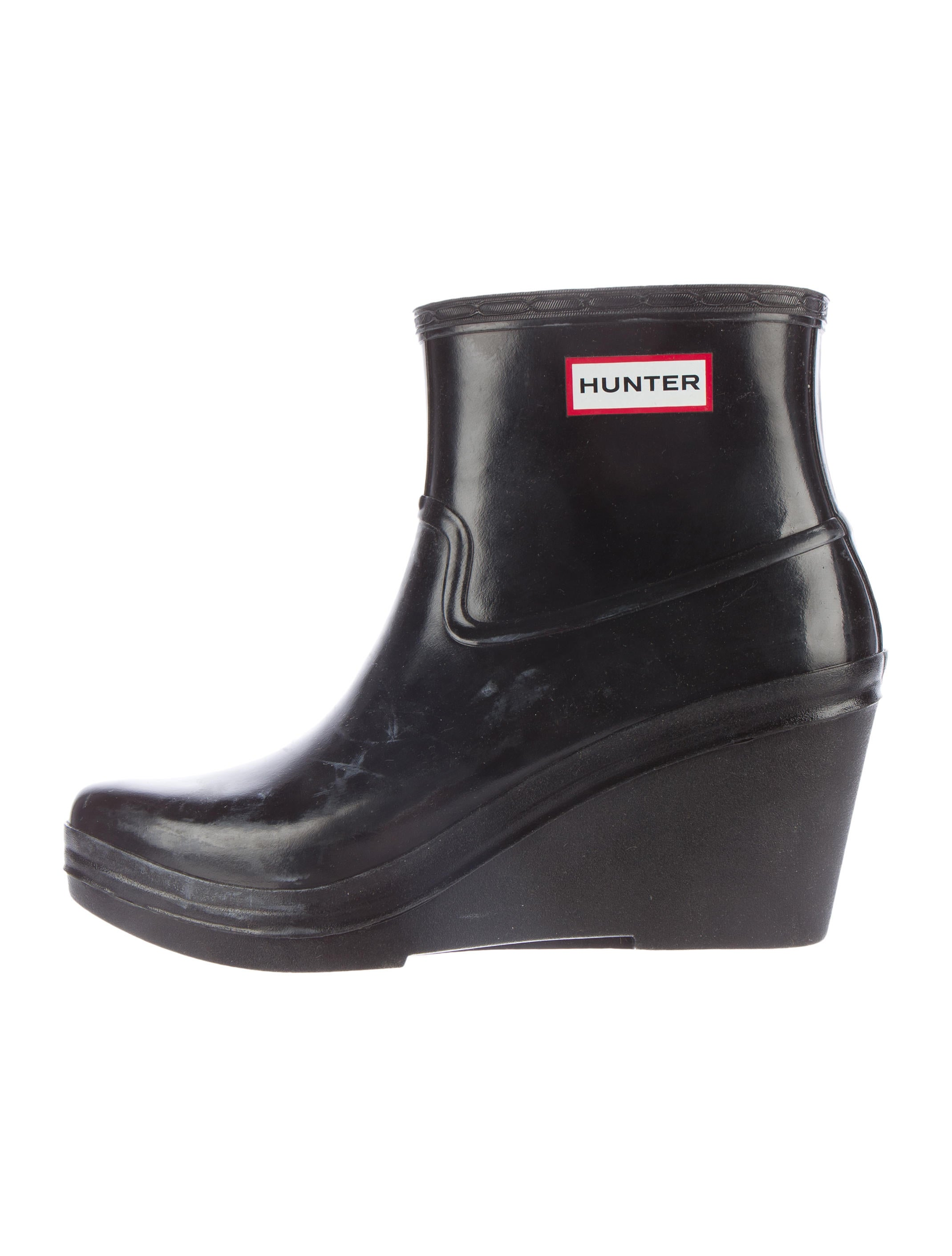 rubber wedge boots shoes wh821669 the realreal