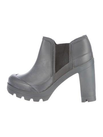 rubber platform ankle boots shoes wh821955
