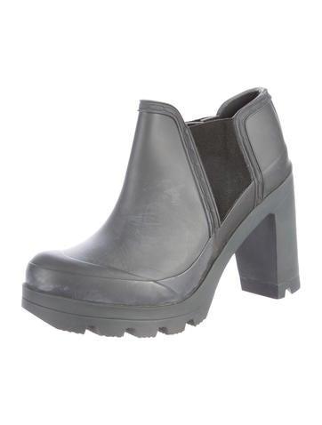 hunter rubber platform ankle boots  shoes  wh821955