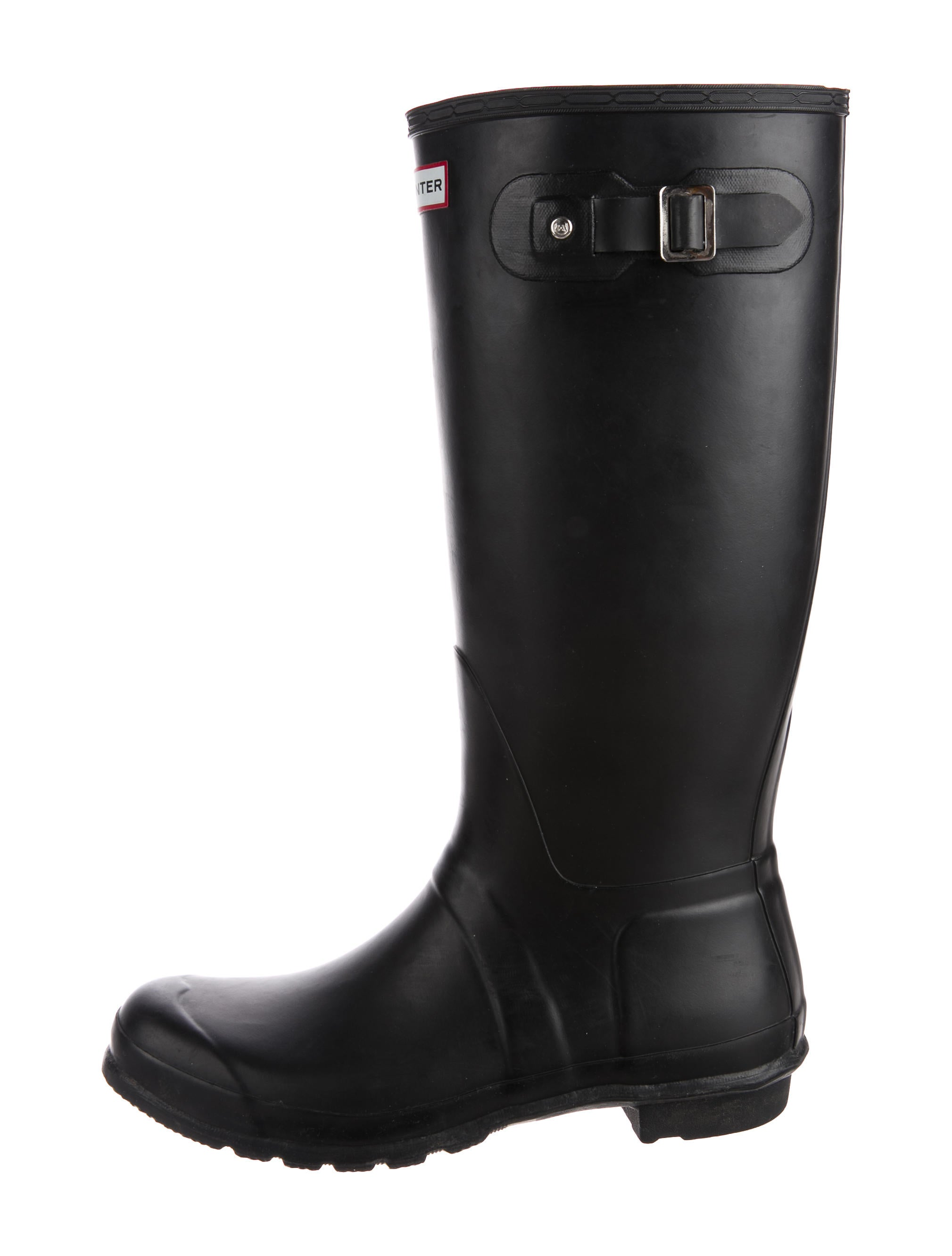 Hunter Rubber Rain Boots - Mens Shoes - WH822199 | The RealReal