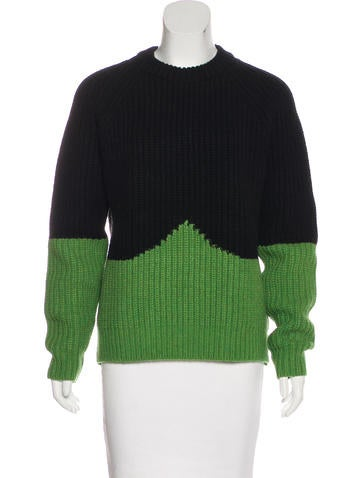 Hunter Color Blocked Wool Sweater None