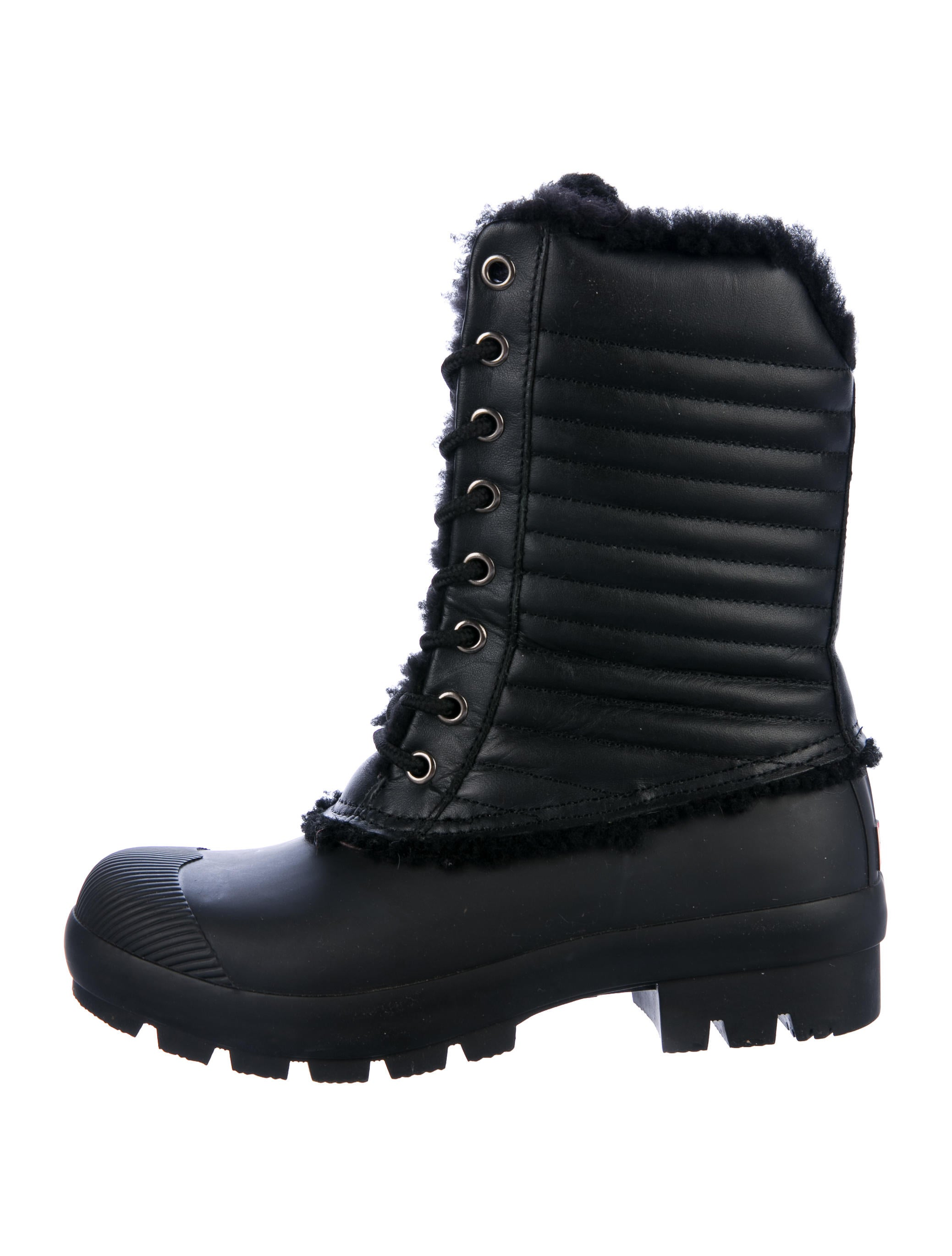 Hunter Leather-Trimmed Rain Boots fashionable buy cheap view cost looking for online pDVF5tk2Gv