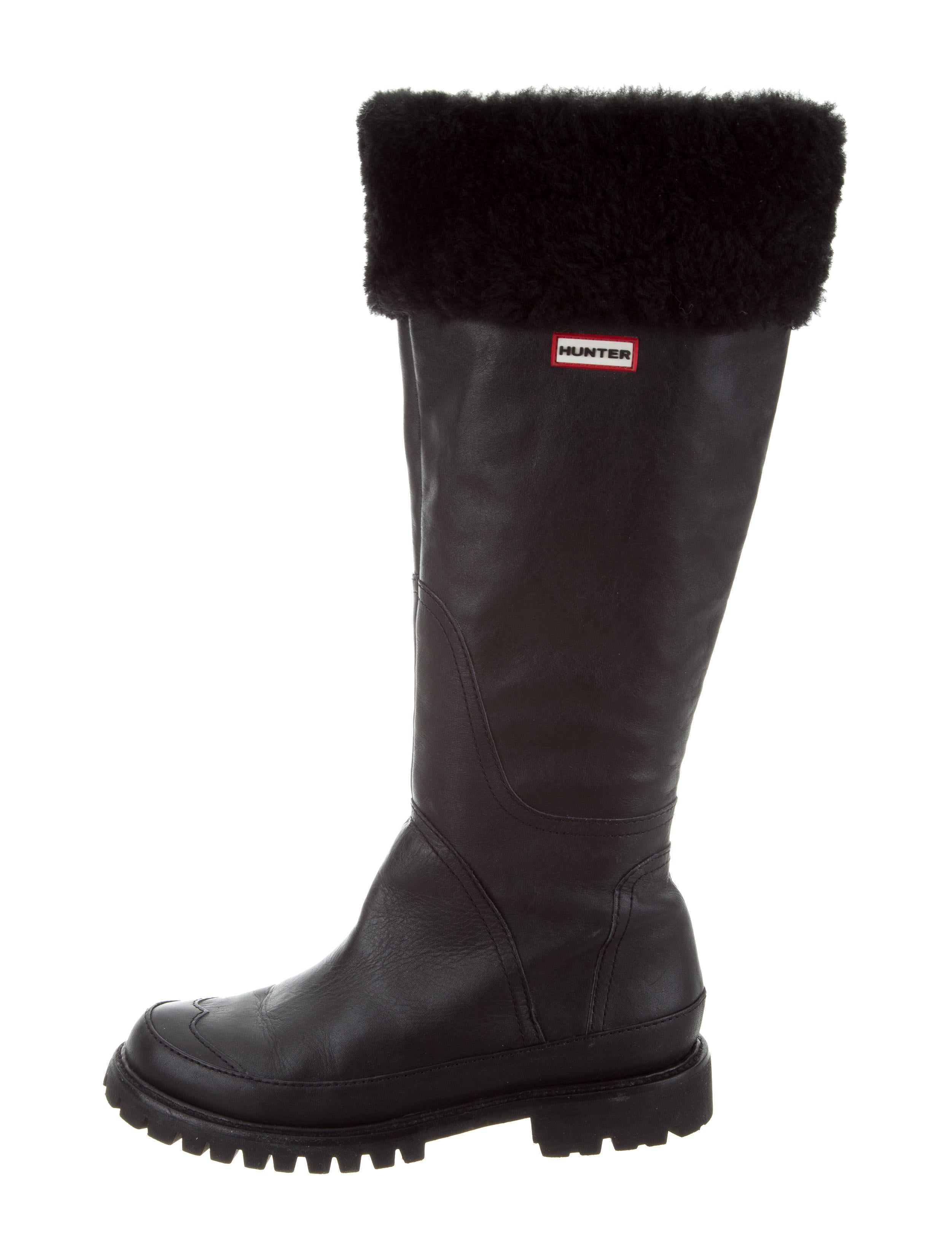 Hunter Shearling-Trimmed Knee-High Boots discount sale online buy cheap exclusive clearance best prices iB0vN