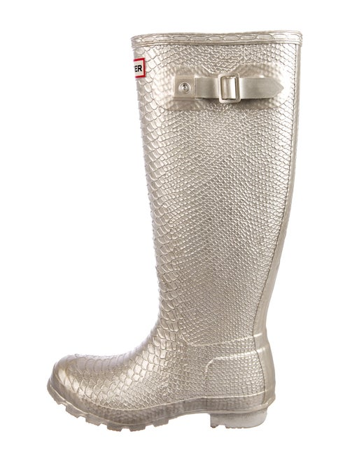 Hunter Carnaby Embossed Animal Print Rain Boots M… - image 1