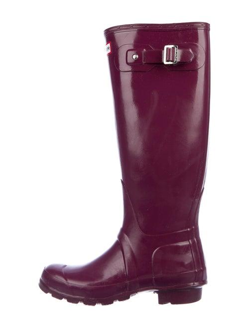 Hunter Rubber Rain Boots Purple