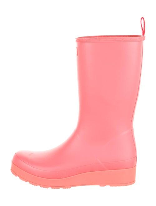 Hunter Rubber Rain Boots Orange