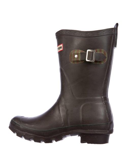 Hunter Festival Rubber Rain Boots Brown