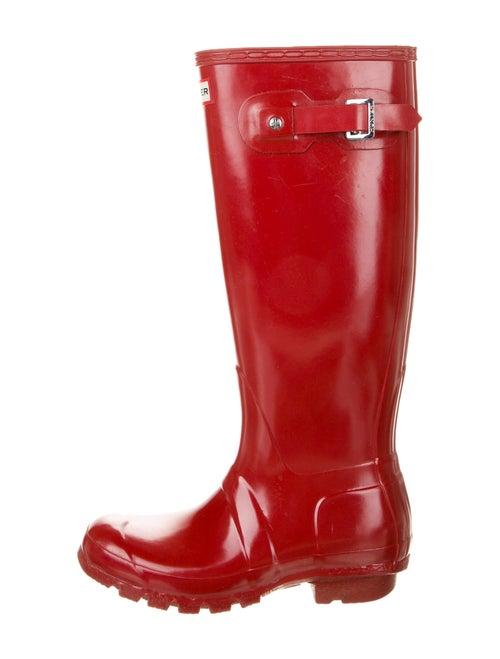 Hunter Rain Boots Rubber Rain Boots Red