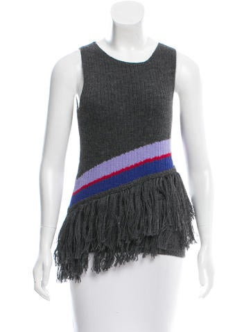 Harare Fringe-Trimmed Alpaca Top w/ Tags