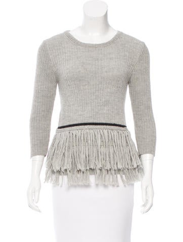 Harare Fringe-Trimmed Alpaca Sweater None