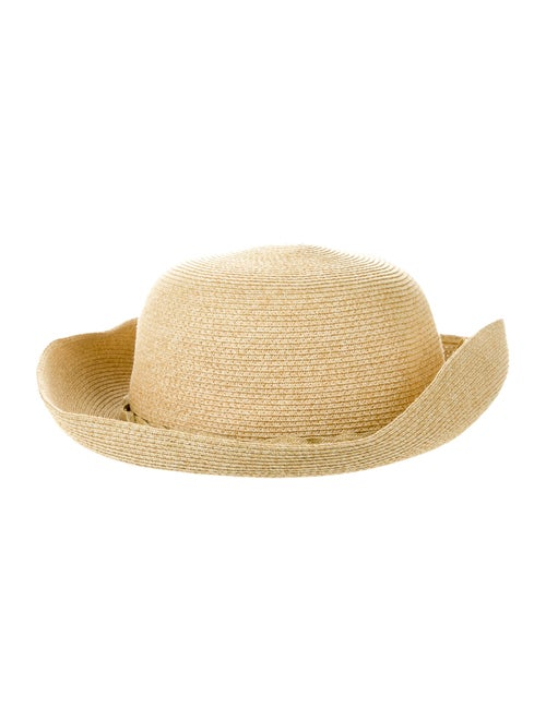 Hat Straw Wide Brim Tan