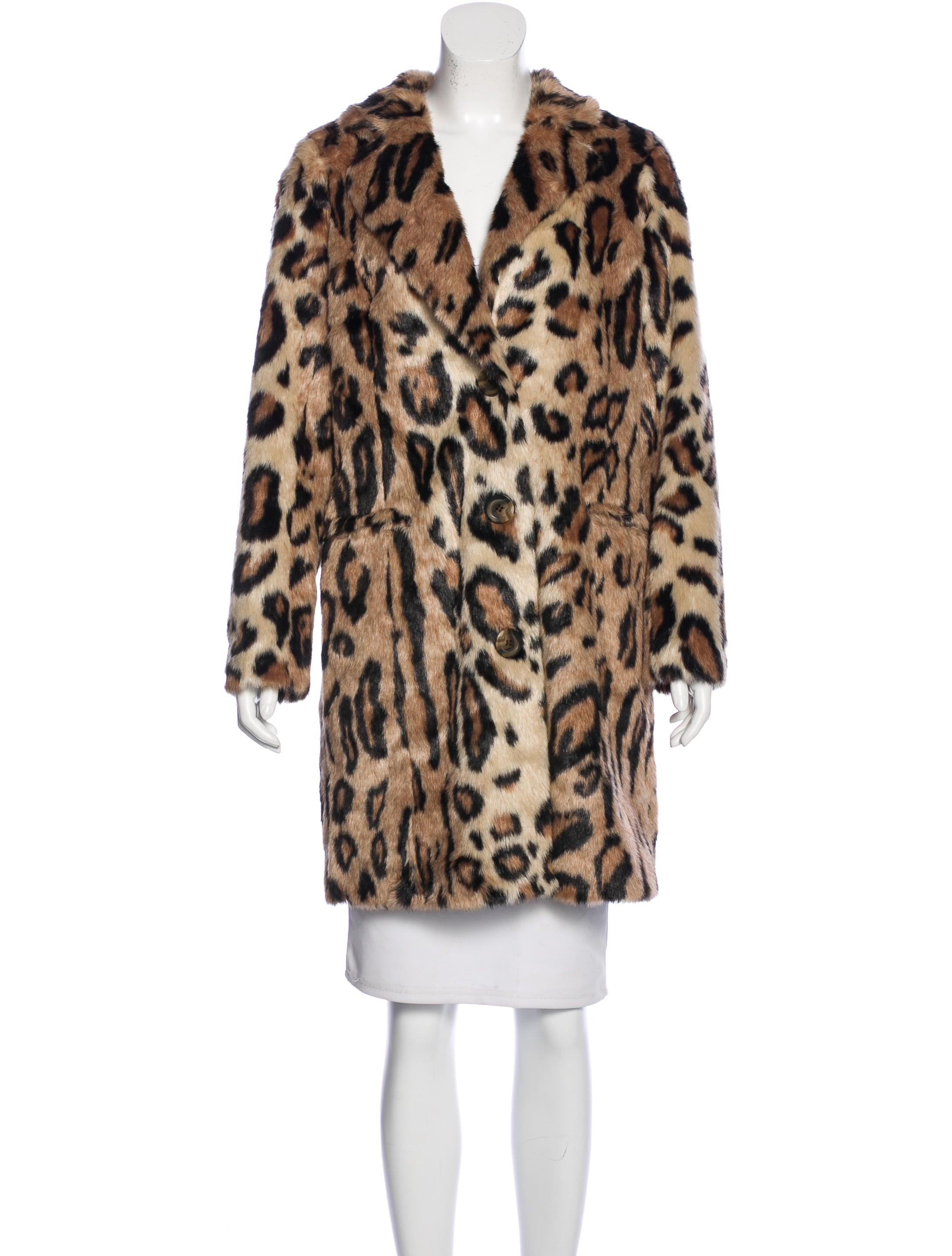 House Of Harlow 1960 Leopard Print Faux Fur Coat Clothing