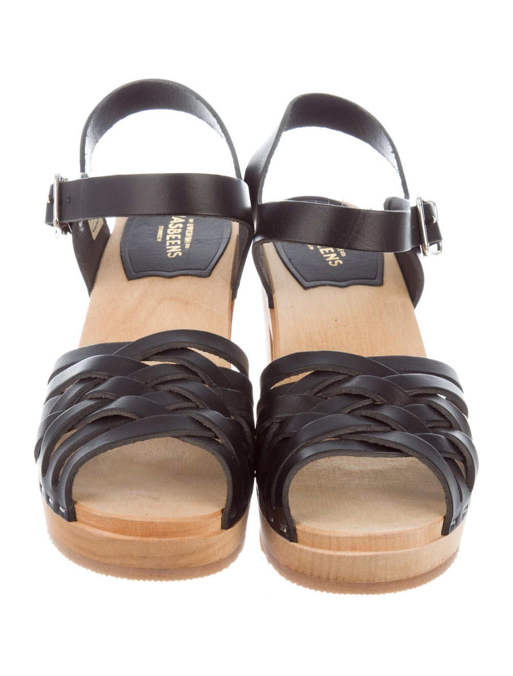 Swedish Hasbeens Braided High Leather Sandals Bla… - image 3