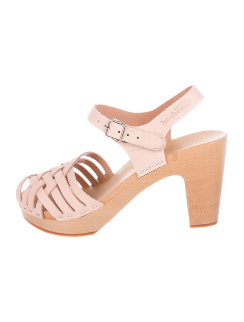 Swedish Hasbeens Leather Sandals Pink