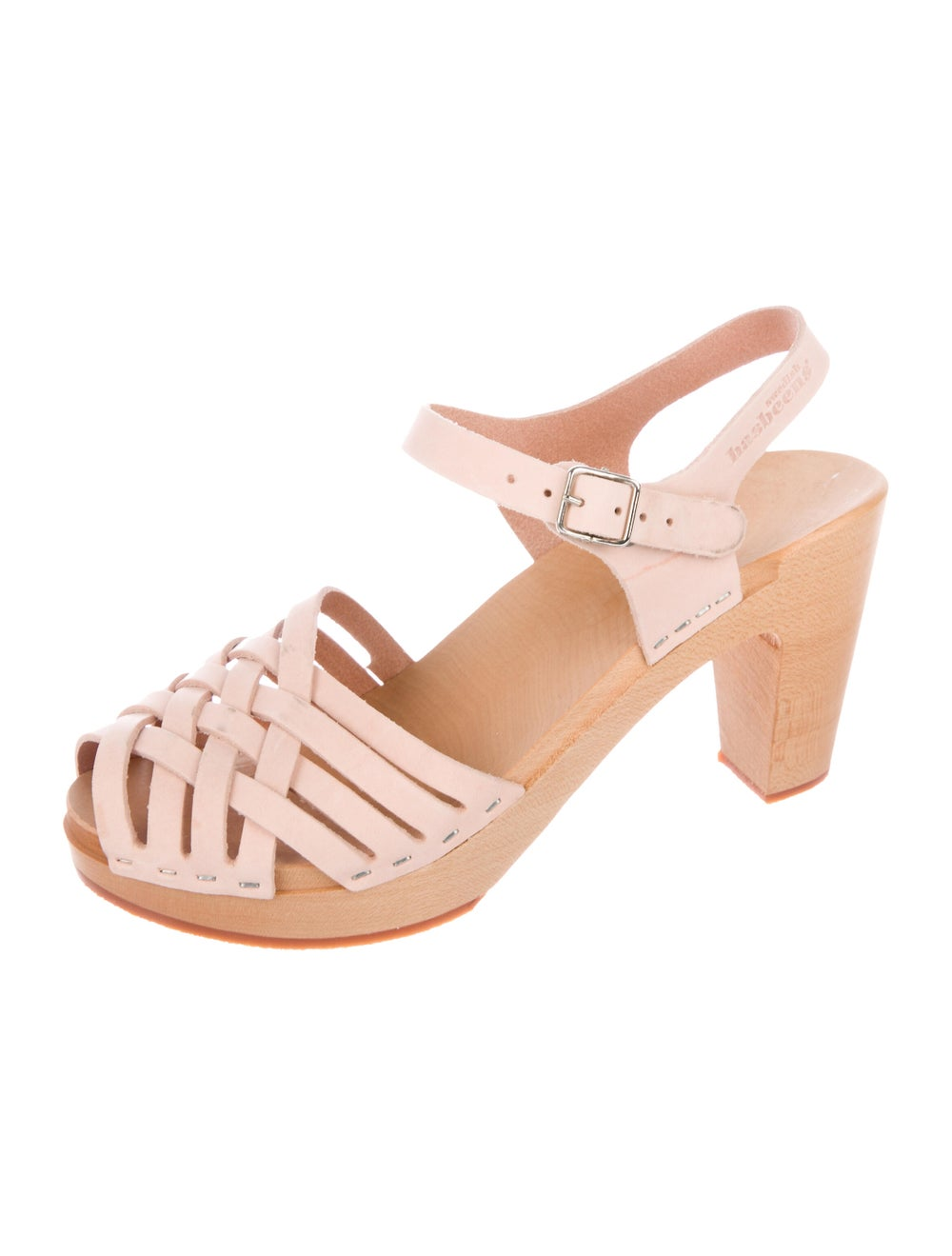 Swedish Hasbeens Leather Sandals Pink - image 2