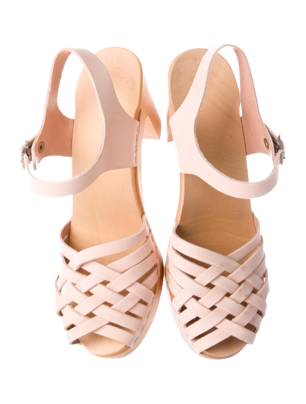 Swedish Hasbeens Leather Sandals Pink - image 3
