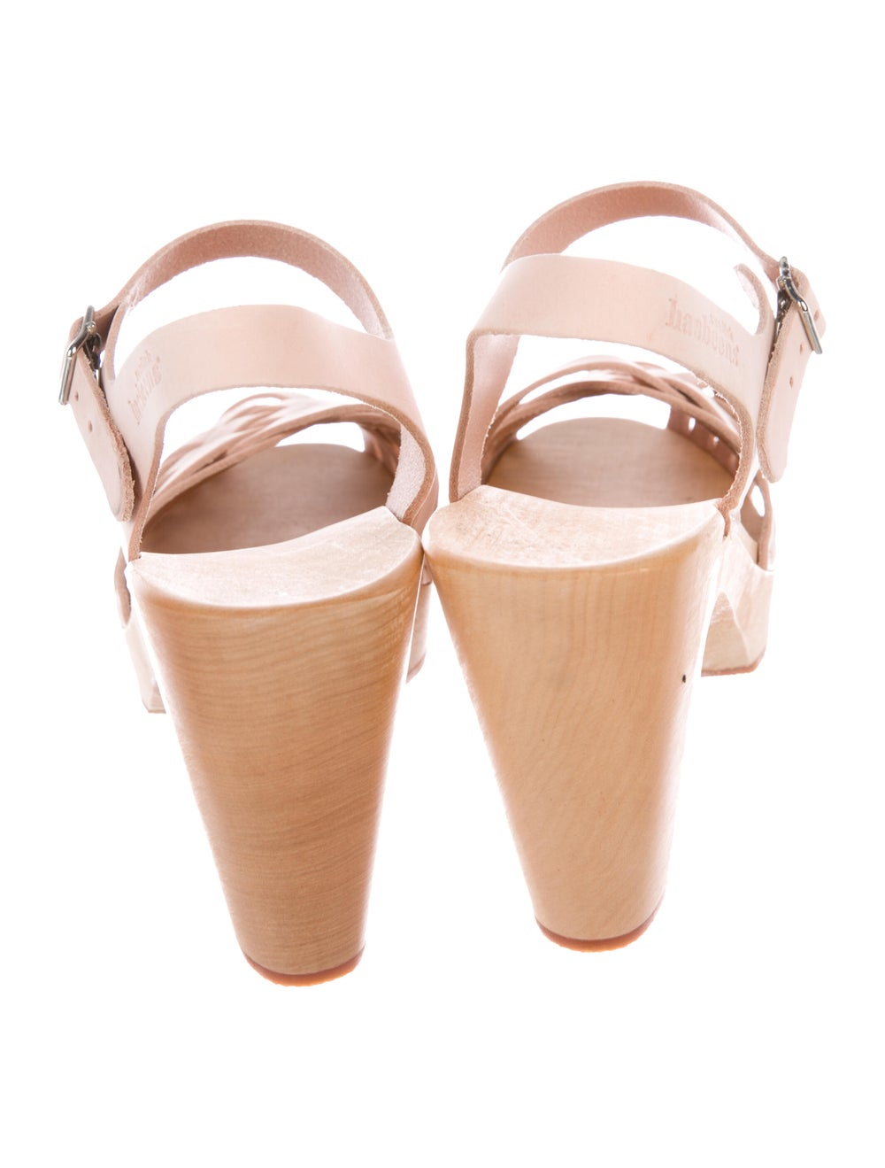 Swedish Hasbeens Leather Sandals Pink - image 4