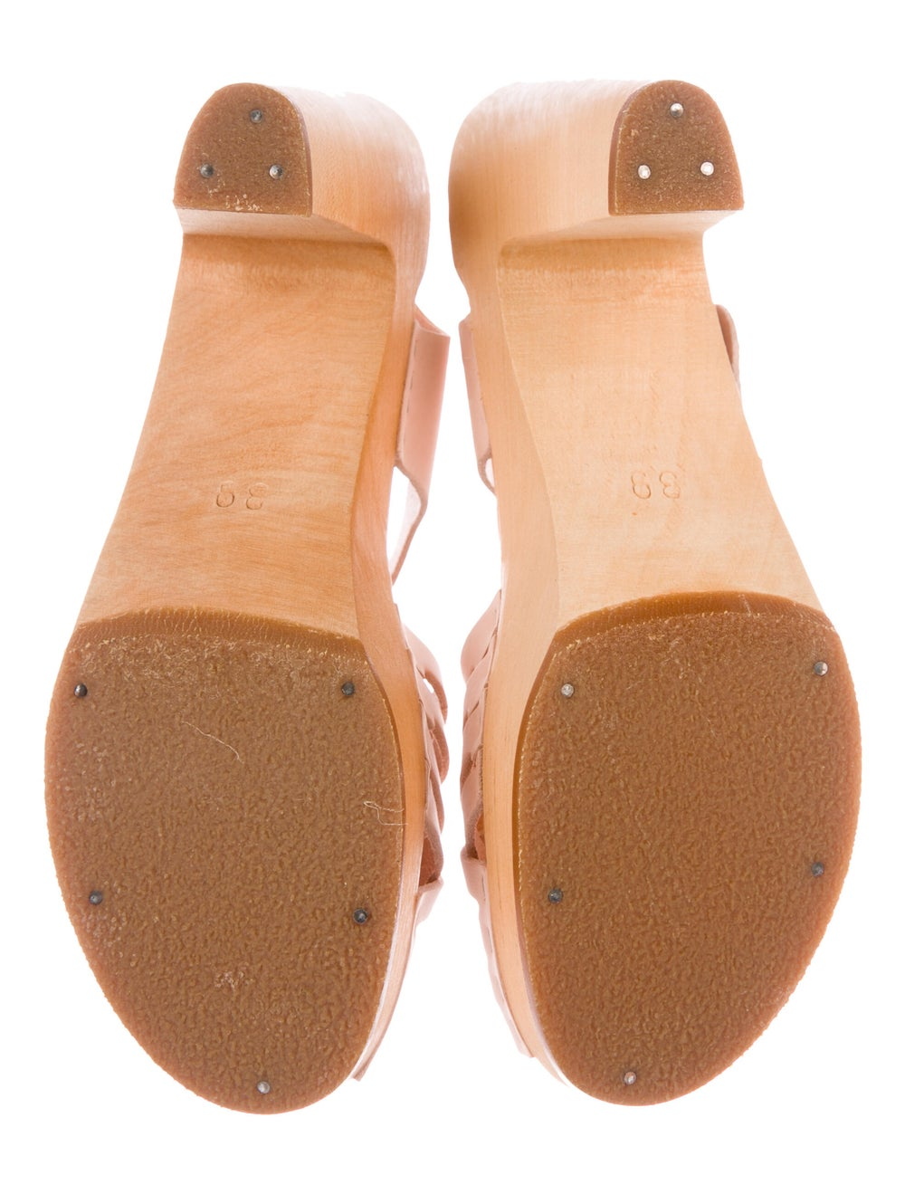 Swedish Hasbeens Leather Sandals Pink - image 5