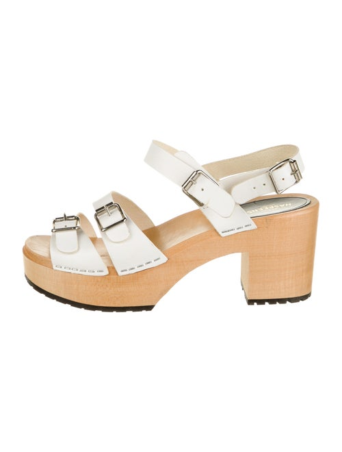 Swedish Hasbeens Leather Sandals White