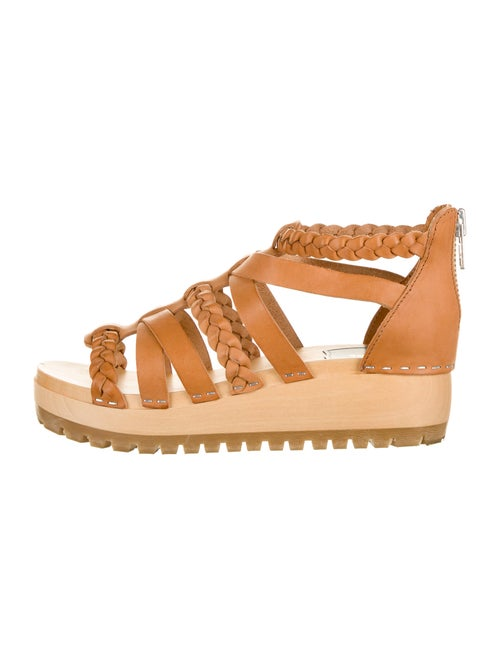 Swedish Hasbeens Leather Gladiator Sandals