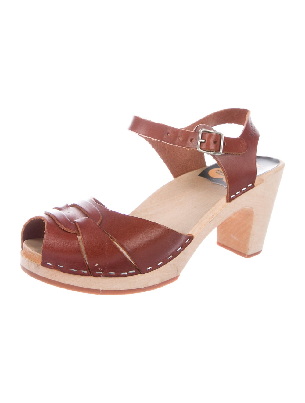 Swedish Hasbeens Leather Sandals Brown - image 2