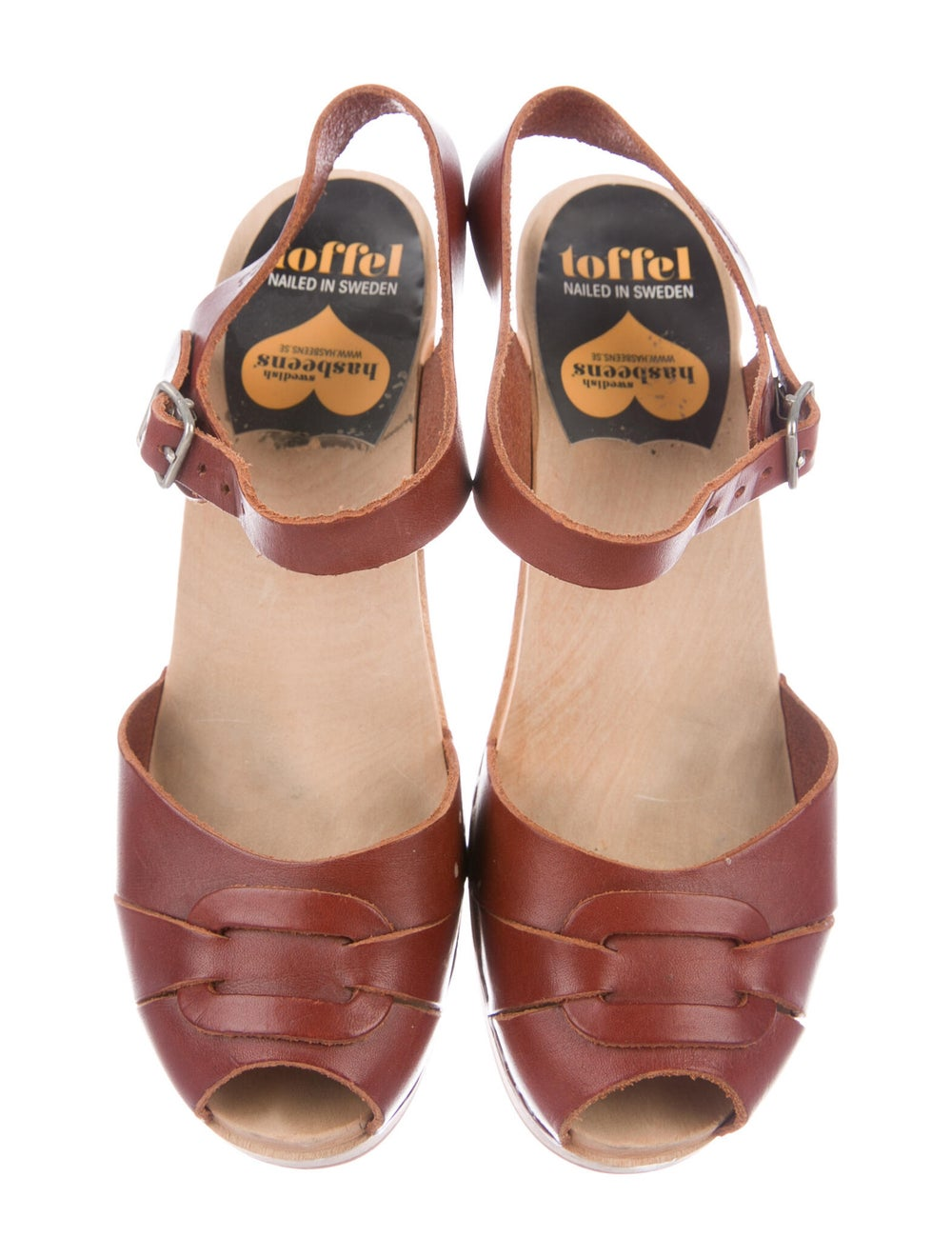 Swedish Hasbeens Leather Sandals Brown - image 3