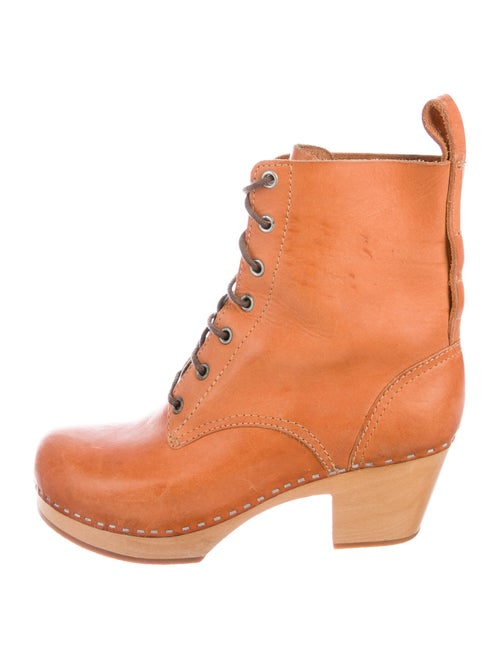 Swedish Hasbeens Leather Lace-Up Boots