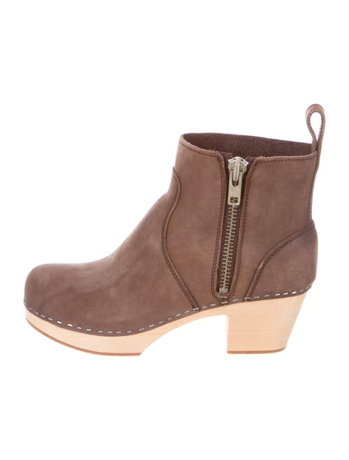Swedish Hasbeens Suede Boots Brown