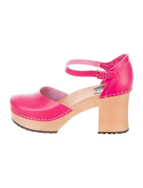 Swedish Hasbeens Leather D'Orsay Pumps Pink