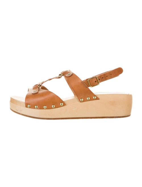 Swedish Hasbeens Leather Sandals Brown