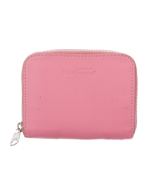 Swedish Hasbeens Leather Compact Wallet Pink