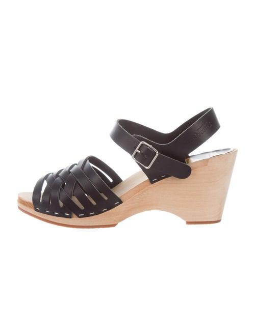 Swedish Hasbeens Slingback Sandals Black