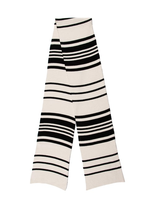 Hood Dandy Knitted Striped Wool & Cashmere Scarf B