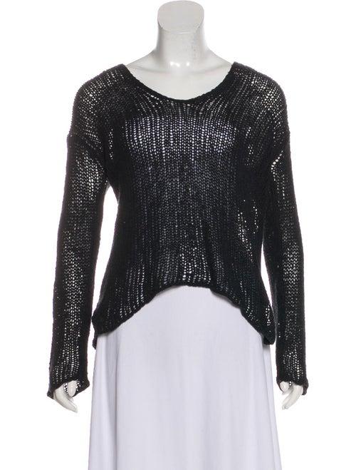 Helmut Lang Textured Knit Sweater Black