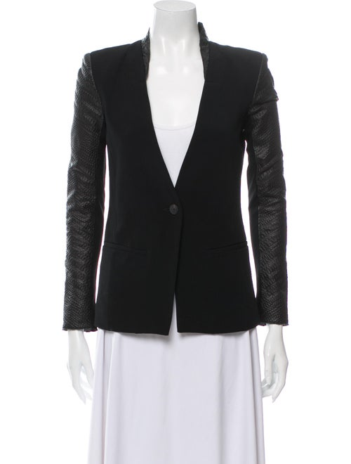 Helmut Lang Leather Blazer Black