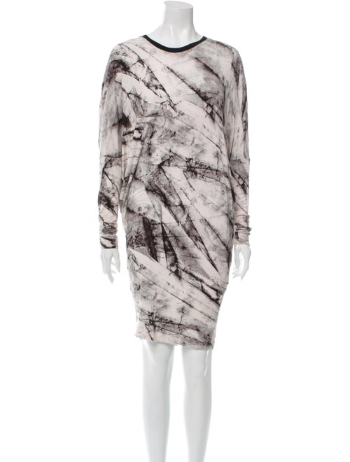 Helmut Lang Printed Mini Dress