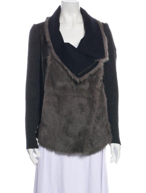 Helmut Lang Fur Jacket Grey