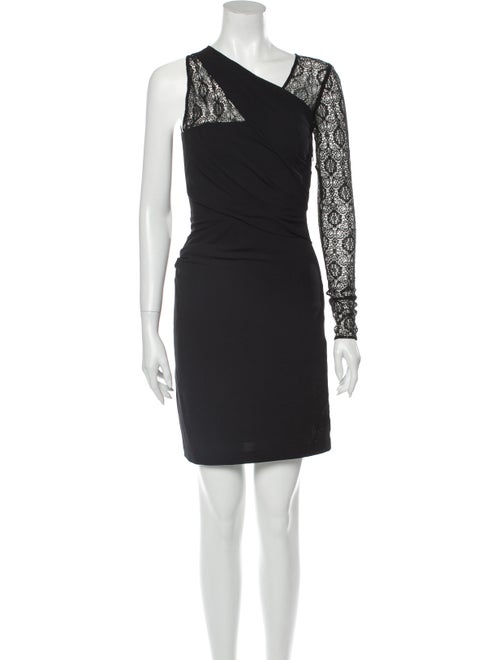 Helmut Lang Asymmetrical Mini Dress Black