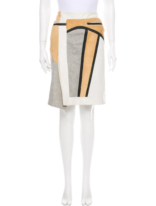 Helmut Lang Striped Knee-Length Skirt