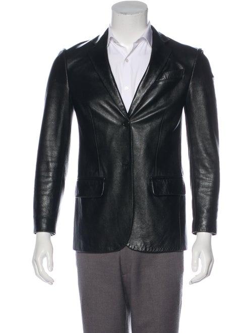 Helmut Lang 1999 Vintage Leather Blazer Black