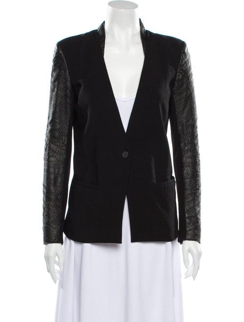 Helmut Lang Goat Leather Blazer Black