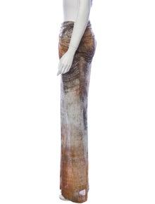 Helmut Lang Printed Long Skirt
