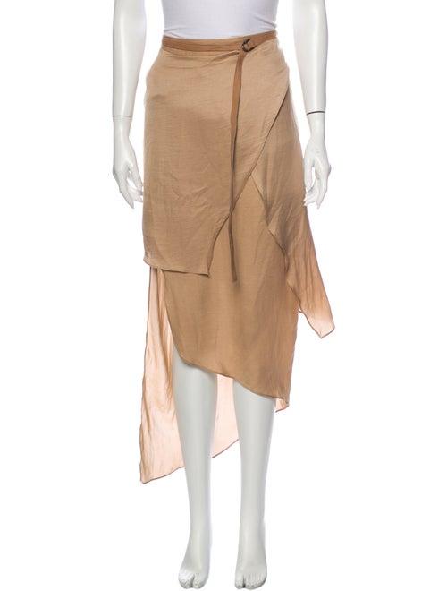 Helmut Lang Long Skirt Brown