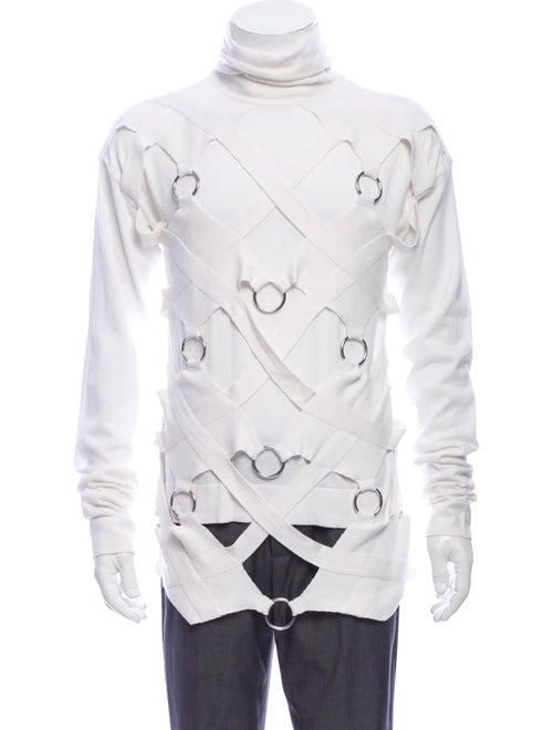 Helmut Lang Turtleneck Long Sleeve Pullover White