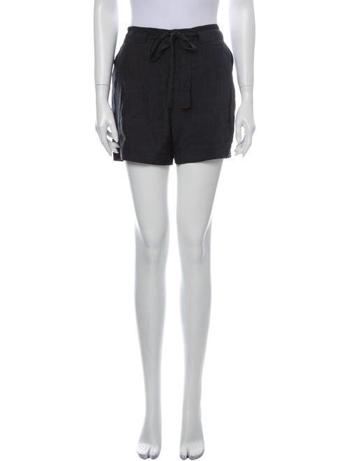 Helmut Lang Silk Mini Shorts Blue
