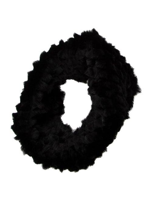 Helmut Lang Fur Snood Black