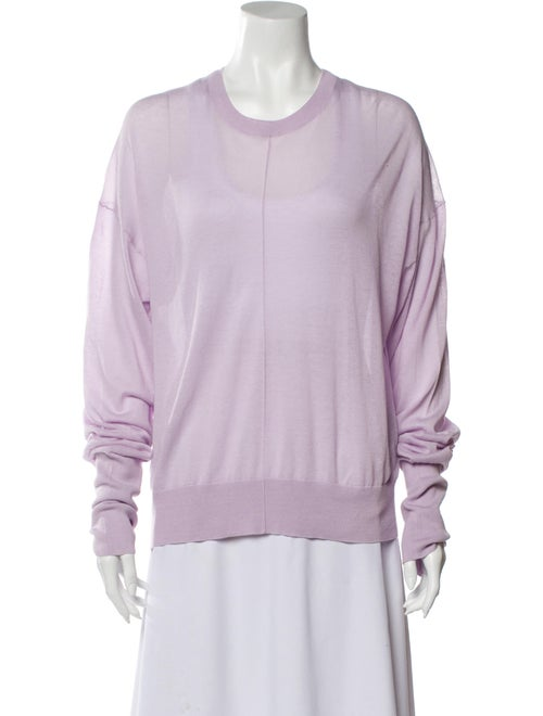 Helmut Lang Scoop Neck Sweater Purple