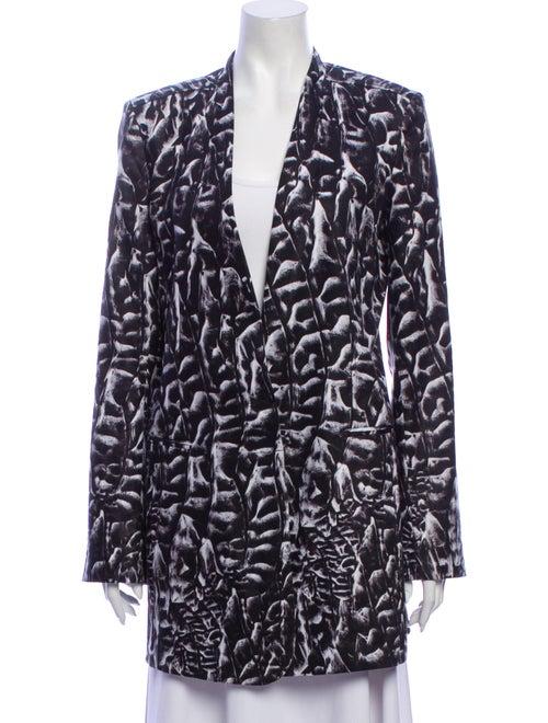 Helmut Lang Linen Printed Coat Grey